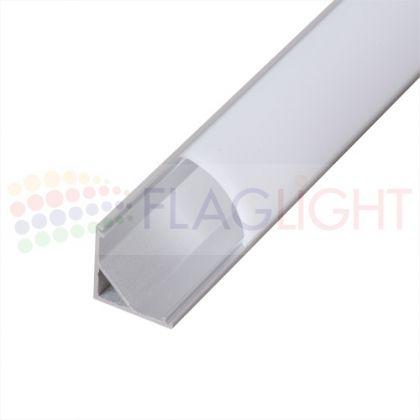 Алуминиев профил 2м за LED лента (ъглов)