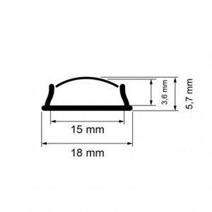 Aluminium  LED Profile 2.5м flex