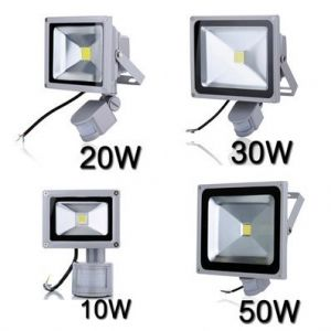 LED FLOOD LIGHT 30W with PIR sensor